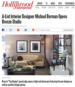 A-List Interior Designer Michael Berman Opens Bronze Studio