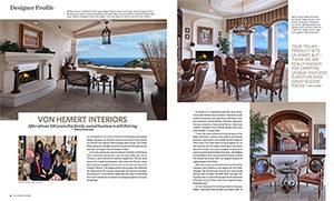 California Homes Summer 2017   Designer Profile: Von Hemert Interiors